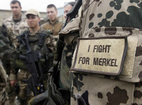 I fight for Merkel Soldat